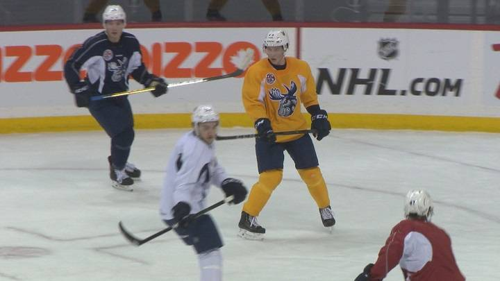 Manitoba Moose Luke Green adjusting to hockey without twin brother as teammate - Winnipeg
