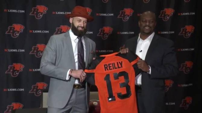 Big quarterback moves during off-season gives CFL a new look: Mike Reilly