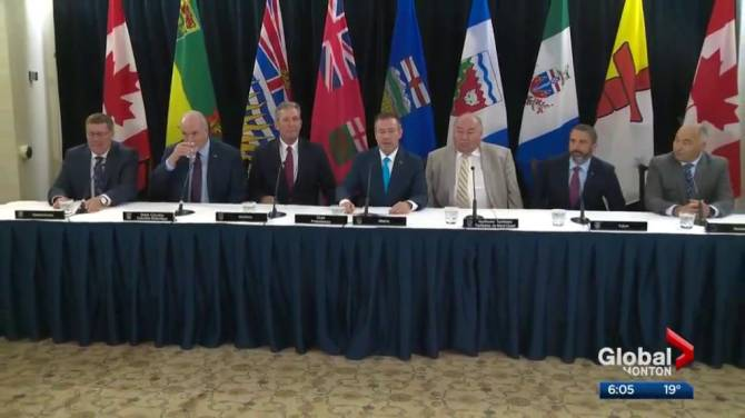 Western premiers emerge from annual meeting in Edmonton with smiles despite pipeline disputes