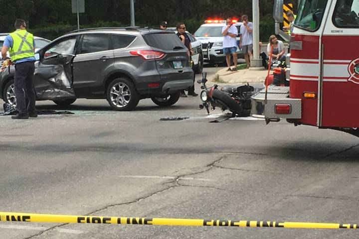 Motorcycle, vehicle collide on St. Vital Road - Winnipeg