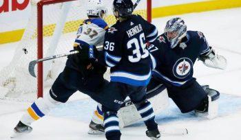 Perron powers Blues past Jets 4-3 in overtime - Winnipeg