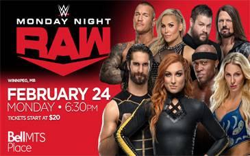 WWE Monday Night Raw - Winnipeg