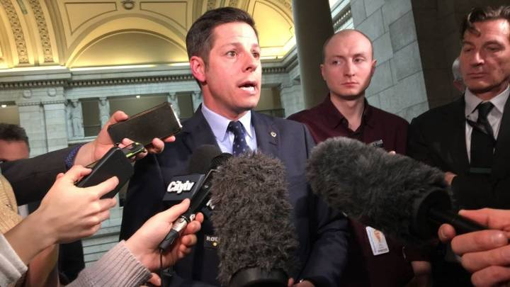 Mayor Brian Bowman speaks to media Thursday, March 7, 2019.