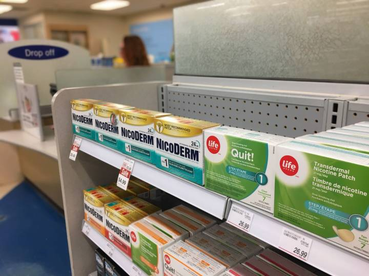 The Manitoba government is teaming up with Shoppers Drug Mart to provide counselling and items such as nicotine patches help people quit smoking.