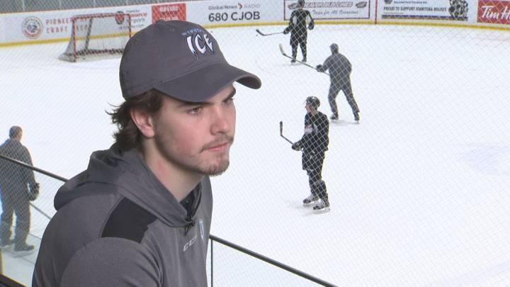 Michael Teply of the Winnipeg Ice.