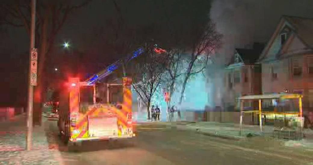 Winnipeg fire crews battle blaze in St. John's home - Winnipeg