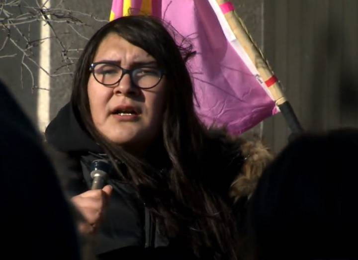 Brielle Beardy-Linklater, one of the organizers of Friday's demonstration.