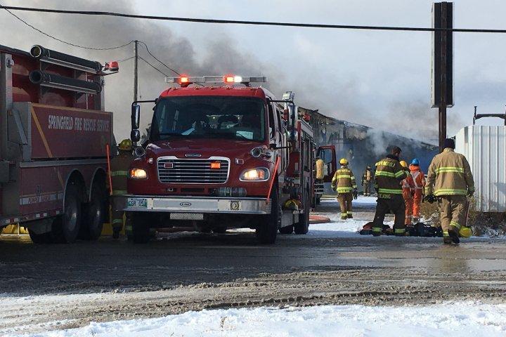 Crews battle fire at Transcona auto parts shop
