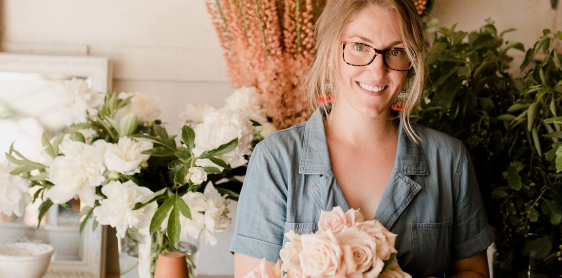 Lauren Wiebe, owner of Stone House Creative, is a studio florist specializing in weddings for the past 12 years./Vanessa Renae Photography.